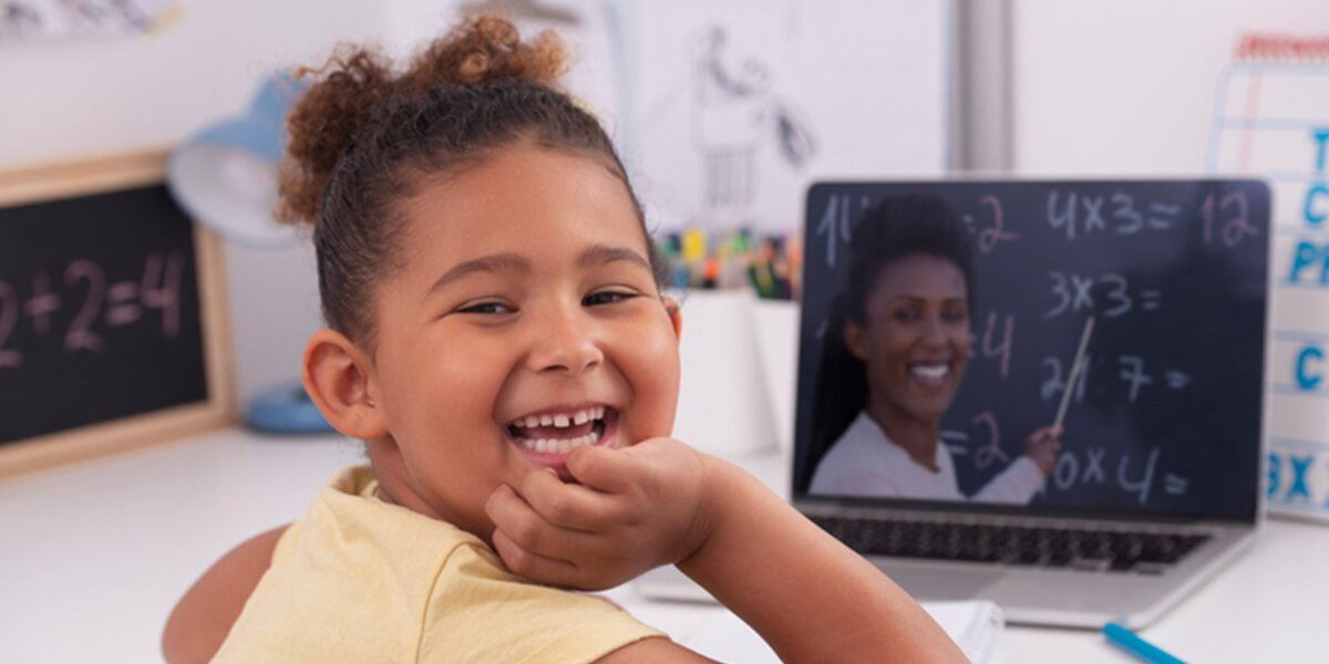 young girl remote learning - autism learning at home - autism certified financial planning