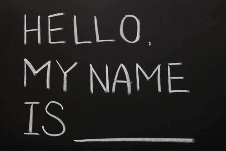 chalkboard hello my name is written - neurodiverse autism financial planning services farmington ct