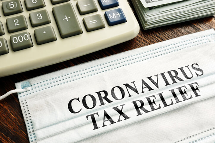 coronavirus tax relief desk concept - neurodiverse financial planning and counseling services