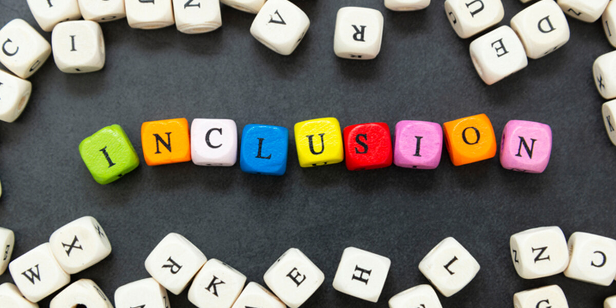 letters spelling inclusion - neurodiverse employment benefit consulting services connecticut